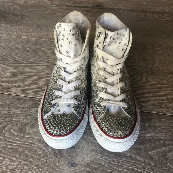 Converse Shoes   Hightop Rhinestone